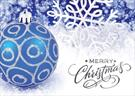 A4118-PPD<br>Blue Ornament with Merry Christmas